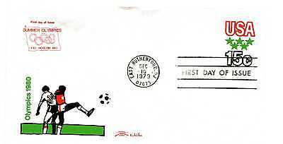 U596 Olympic Games Embossed Stamped Envelope Colonial FDC