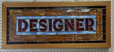 Quality Framed Stained Glass Designer Window Wall Hanging