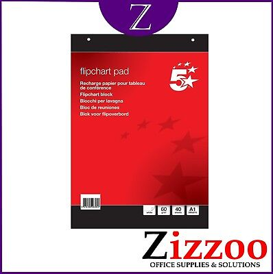 A1 Flipchart Paper Pad - 40 Sheets (Plain) - Great Quality Product - Fast Post