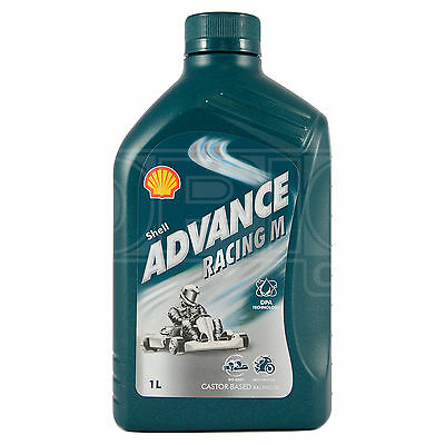 Shell Advance Racing M 2T (SAE 30) Kart Oil Castor Based Oil 1 Litre 1L