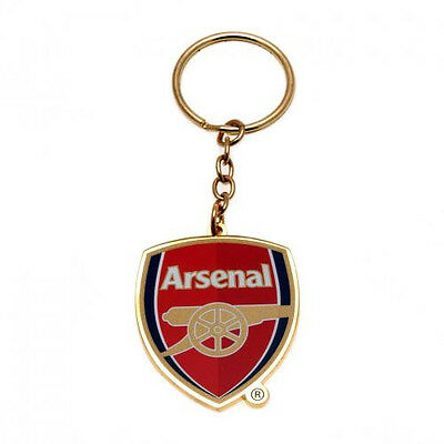 ARSENAL FC Official Crest Keyring Metal Keychain Gunners