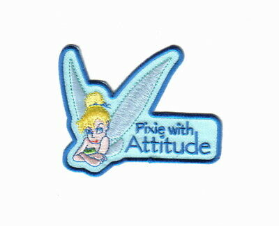 Walt Disney's Peter Pan Tinkerbell Pixie With Attitude Embroidered Patch, NEW