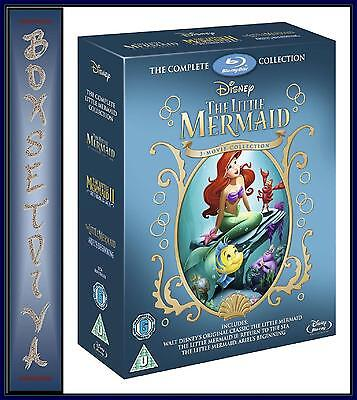 The Little Mermaid Collection  *** Brand New Blu-Ray ** Region Free **