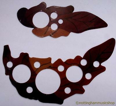 Acoustic Guitar Scratch Plate 2 Piece Leaves Pick Guard Scratchplate Pickguard