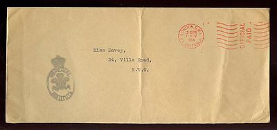 Gb 1954 Official Paid...imperial Institute Cachet