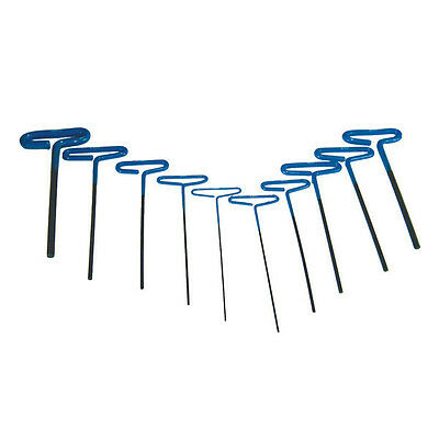 10pc Metric Professional Long T-Handle Hex Key Wrench Set - 2mm to 10mm