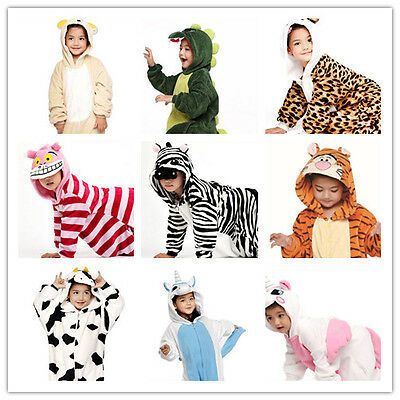 Kids Children Unisex  Kigurumi Party Animal Cosplay Costume Onesies Pajamas