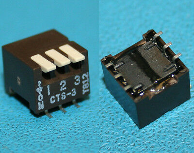 Cts Cts-3 3-Position Smd G/w Spst Piano Type Dip Switch On Down New Lot Qty-55