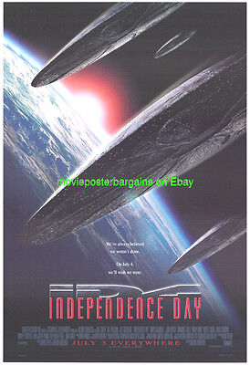 INDEPENDENCE DAY MOVIE POSTER ORIGINAL SS 27x40 ROLLED 2ND ADVANCE STYLE 1996