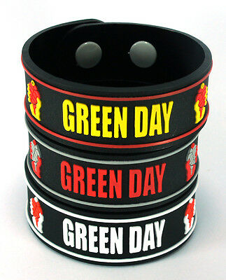 GREEN DAY NEW! 3x Rubber Bracelet Wristband Free Shipping! 3w20 American Idiot
