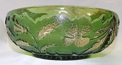 U.S. Glass EAPG Delaware Emerald Green Master Berry Bowl