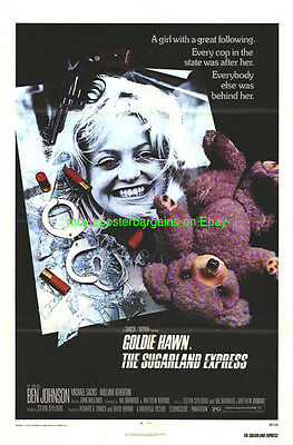 THE SUGARLAND EXPRESS MOVIE POSTER Folded 27x41 One Sheet 1974 STEVEN SPIELBERG