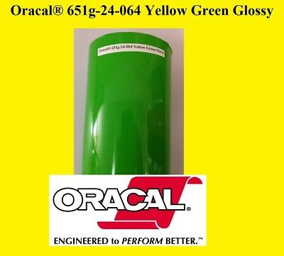 "12"" x 10 FT Roll Yellow Green Glossy  Oracal 651  Vinyl  Cutter Plotter Sign 064"