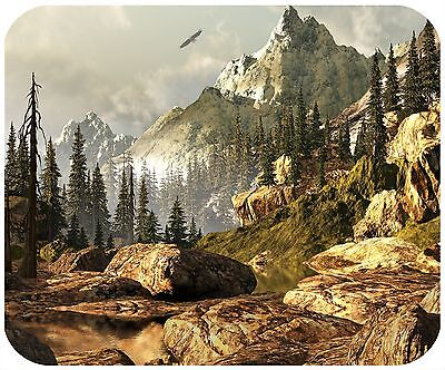 Mouse Pad Custom Thick Mousepad-Mountains - Add Any Text Free