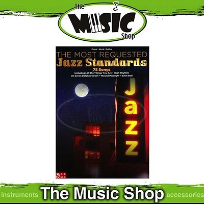 New Most Requested Jazz Standards PVG Music Book - Piano Vocal Guitar