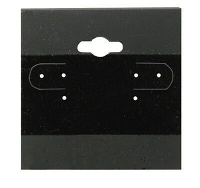 """100Pc Black Plain Hanging 2"""" x 2"""" Earring Cards With Lip Jewelry Display Hang"""