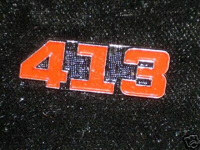 413  engine - hat( lapel) pin.. red color