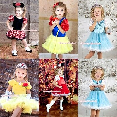 Halloween XAMS Princess Dress BELLE SNOW WHITE CINDERELLA Girl Costume 6mos-8Y
