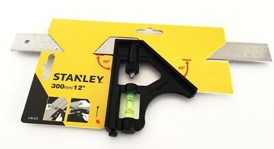 "Stanley 12"" Combination Square 46-222 300mm, Adjustable, Sliding, Set Square"