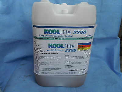KOOLRite 2290 SOLUBLE OIL COOLANT HAAS FADAL CUTTING FLUID CNC, MILLING, LATHE