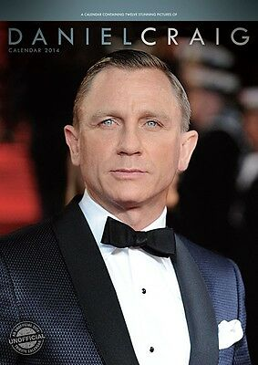 Daniel Craig 2014 Large Size Wall Calendar Brand New And Factory Sealed R