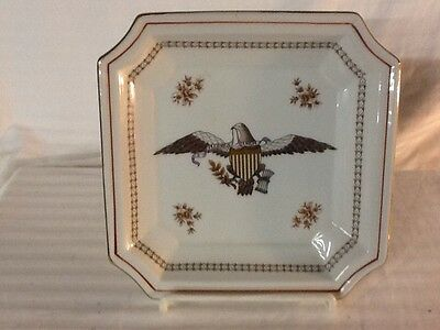 American Eagle Collectors Plate Andrea By Sadek Square Serving Dish 9254