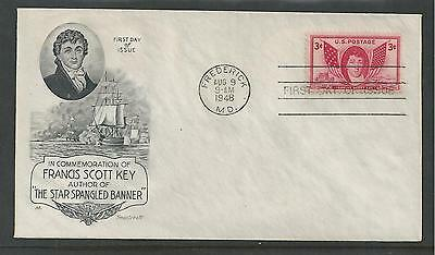 # 962 FRANCIS SCOTT KEY 1948 Smartcraft First Day Cover
