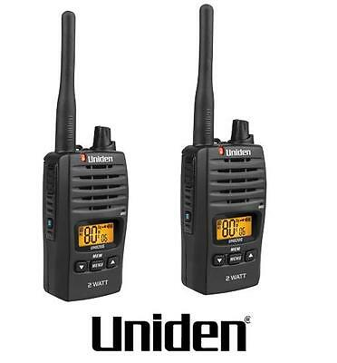 Uniden Uh820S-2 2W Uhf Twin Deluxe Handheld Radio  80 Channels+Charger Batts Inc