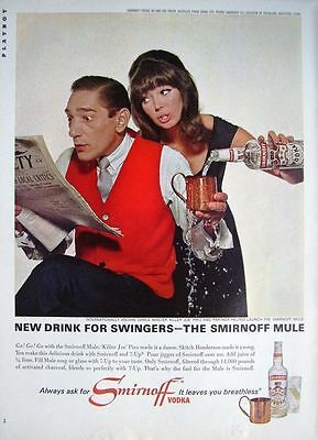Vintage 1965 'Killer Joe' Piro 'SMIRNOFF VODKA' Advert - Original Photo Print AD