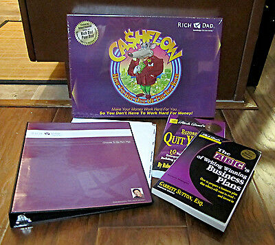 Rich Dad Lot – Robert Kiyosaki! – 4 Pcs – Game/books/binder - New