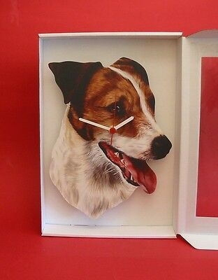 Jack Russell Wooden Wall Clock  Gift Boxed