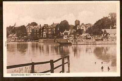 BROWNESS BAY OLD ENGLAND HOTEL POSTCARD River Flag. Peacock Sepia Art Postcard