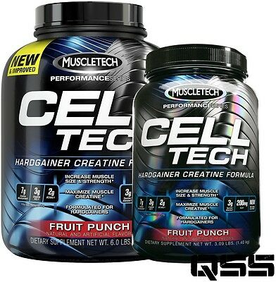 MUSCLETECH CELL TECH PERFORMANCE SERIES  HARDGAINER CREATINE 2.7kg or 1.4kg