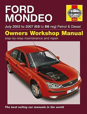 HAYNES SERVICE & REPAIR MANUAL FORD MONDEO July 2003 to 2007 (03 to 56 Reg) 4619