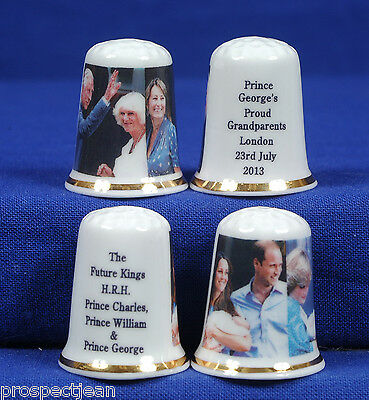 """/""""SPECIAL OFFER/"""" Future Kings /& Proud Grandparents Set of 2 China Thimbles B//99"""