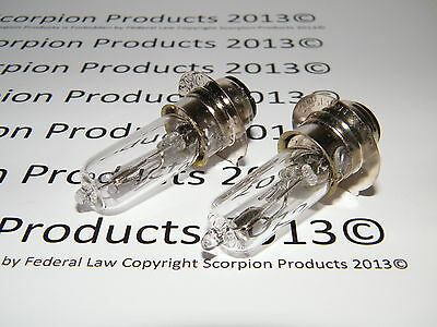 Scooter Headlight Bulbs (2 Bulbs For The Price One) 35 Watt Chinese Scooter