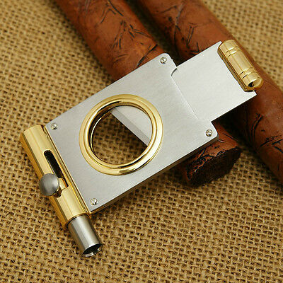 New stainless steel cigar cutter with cigar punch #736AP