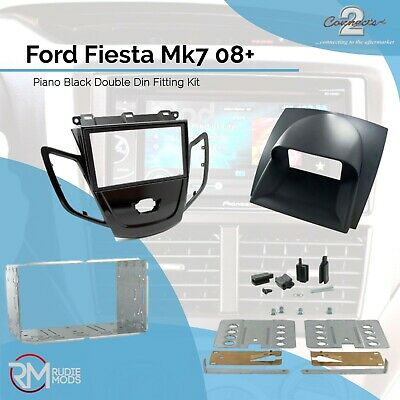 Connects2 CT23FD43 Ford Fiesta Mk7 08 on Piano Black Double Din Fitting Kit