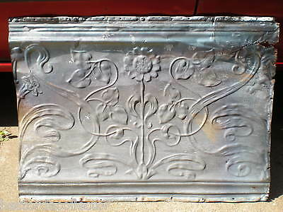 SALE!! Antique Victorian Ceiling Tin Tile Flower Leaves Shabby Chic