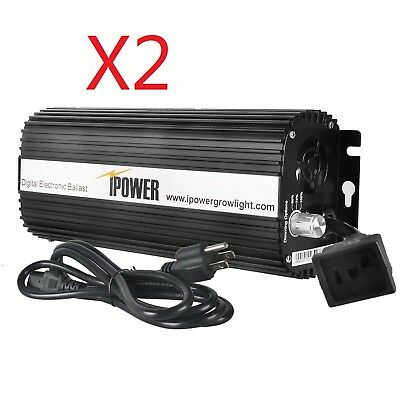 iPower 400 Watt Digital Dimmable Electronic Ballast for HPS MH Grow Light 2 pcs