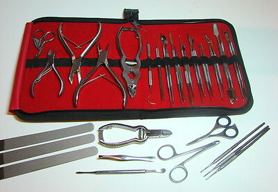 Professional Nail Cutters Clippers Chiropody Podiatry Pedicure Hands&Foot 40 Kit