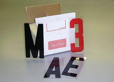 "NEW Box Set Changeable Sign Letters 8"" on 9"" Back 300ct"