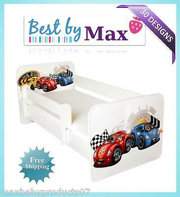 !!! TODDLER / CHILDREN BED INCLUDING Free MATTRESS with Side safety Barrier !!!