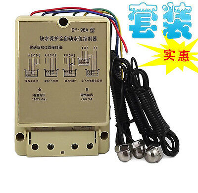 Water Level Auto Controller DF-96A w 3 Stainless Steel Probes 220V 5A