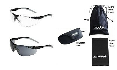 Bolle Universal wraparound safety glasses / specs / spectacles & FREE neckcord
