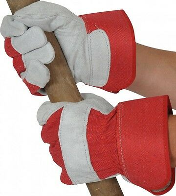 High quality split leather heavy duty work Candian rigger gloves Size 10 XL