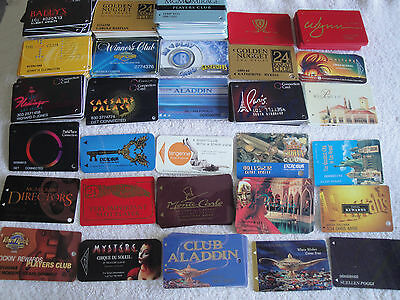 30 USED CASINO LAS VEGAS NV PLAYERS CLUB CARD MGM LUXOR HARD ROCK MIRAGE CAESARS