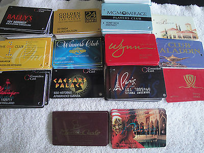 14 USED CASINO LAS VEGAS NV PLAYERS CLUB CARD VENETIANCESARS WYNN ALADDIN  PARIS