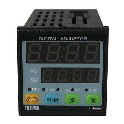 Universal Dual Digital F/C PID Temperature Controller SSR Output Manual Auto US