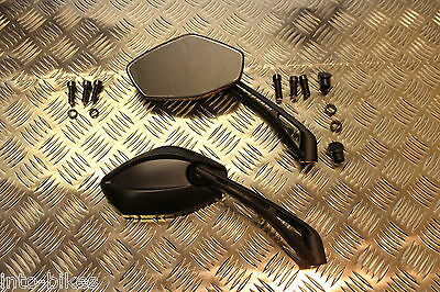 E Marked Pair Mirrors Bike Motorcycle Scooter Quad Sports Left Right Thread 8 10
